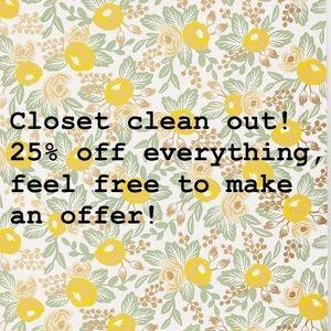 Closet clear out! Make an offer :)